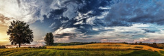 IMG_4170-76PRtzl1TBbLGER (ultravivid imaging) Tags: ultravividimaging ultra vivid imaging ultravivid colorful canon canon5dmk2 clouds sunsetclouds stormclouds fields farm rural vista evening summer pennsylvania pa painterly panoramic scenic greenscene