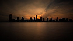 Jersey City Skyline at Sunset (Jemlnlx) Tags: canon eos 5d mark iv 4 5d4 5div ef 1635mm f4 is usm manhattan nyc new york city ny nj jersey hoboken dusk sundown tiffen bw 30 gnd nd graduated neutral density filter filters stacked long exposure sunset