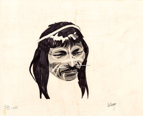 Po-Ho tribesmen concept art from Jonny Quest (1964),