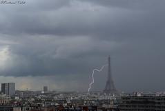 Impact Parisien (bertrand kulik) Tags: eiffeltower lightningstrike storm cloud nuage weather météo rain pluie orage amazingsky monument parisianmonument