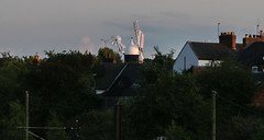 Distant view of Holgate Windmill at sunset - 1