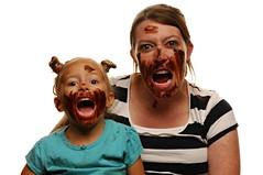 When the Chocolate is Gone (Studio d'Xavier) Tags: werehere afternoonsnacks maternity pregnancy chocolate portrait strobist