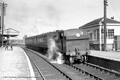 25/06/1955 - Bere Alston, Devon. (53A Models) Tags: britishrailways lswr southernrailway o2 044t 30216 steam passenger berealston devon train railway railroad locomotive
