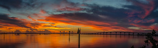 Colorful morning over the Indian river