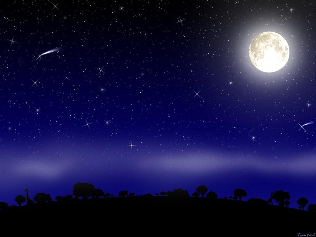 Foto Wallpaper Pemandangan Malam