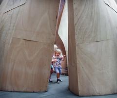 Leader of the Pack (jonron239) Tags: london victoriaandalbertmuseum children playing fun smiles laughter art design girls plywood installation construction