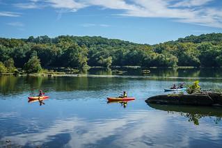 Kayakers on the Potomac at Riverbend Park