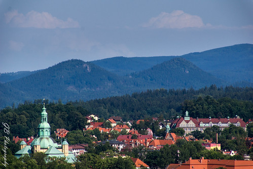 Panorama of Jelenia Góra seen from Krzywousty Hill
