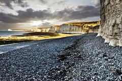 Beach (Geoff Henson) Tags: beach stones cliffs clouds sea ocean tide seaweed chalk flint 1000v40f
