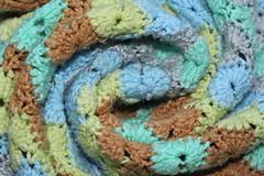 Crocheted Baby Blanket (FoundDreamHandmade) Tags: crocheted baby blanket newborn swaddle wrap photoprop