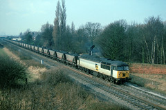 A somewhat more everyday image now....during the day at this time there was an endless procession of such workings to Eggborough as well as Drax......56068 Milford-Drax Whitley Bridge Jnc  22-02-1994 (the.chair) Tags: 56068 milforddrax whitley bridge feb 1994