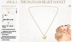 💛Amala - The Hannah Heart Locket for FLF💛 (Crystal Cranberry) Tags: amala flf fifty linden friday mesh accessories necklace locket sl
