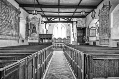 The Church of St. John The Baptist (michaeljoakes) Tags: church blackandwhite aisle shropshire stokesay stjohnthebaptist canonpowershotg7x