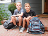 first day (DJHuber) Tags: marcus eli elijah firstdayofschool 2017 chira boys backpacks stairs house princegeorge bc canada britishcolumbia