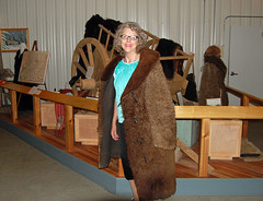 Bison Hide Coat (bkamerman) Tags: bison hide coat pembina county historical museum