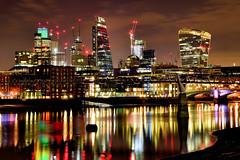 City reflections (Croydon Clicker) Tags: reflection water thames london dawn nikon lights longexposure architecture colours sigma1770mm 1500v60f
