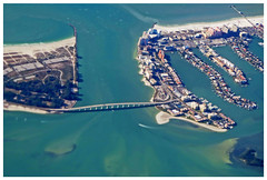 """In Irma's Path:  Inlet to the Gulf of Mexico"" - Clearwater Beach, Florida (TravelsWithDan) Tags: fromabove clearwaterbeach oceaninlet outtheairplanewindow florida gulfofmexico beaches homes bridge boat water canong16 hurricaneirma"