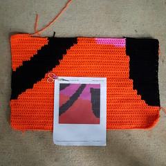 Progress on reworking Square 121 (crochetbug13) Tags: crochetbug crochet crocheted crocheting loveacrosstheusa olek raleigh northcarolina crochetsquares crochetpanels crochetinstallation