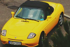 Fiat Barchetta - running (eagle1effi) Tags: who fiat barchetta lilly car yellow cloudy canonpowershotsx1is eagle1effi damncool masterclass exact hybrid geomapped tuebingen tubingen germany deutschland badenwuerttemberg württemberg stadttübingen beautifulcityoftubingengermany beautifulcityoftübingengermany tubinga tübingen dibengâ dibenga tubingue flickr dame lady effiart by aviary edition 002 crop digitalretouched ppc art erwin effinger