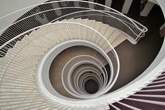 Down to knowledge (Giloustrat) Tags: architecture spiral staircase k3 pentax helsinki finland bibliotheque université escaleras stairwaytoheaven topf25