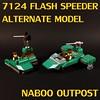 Naboo Outpost with Flash Speeder (MCLegoboy) Tags: lego starwars naboo outpost set alternate model 7124 flashspeeder 2017mocergames mocpages moc myowncreation