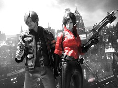 Leon & Ada - Umbrella City (1/6th shooter) Tags: leonkennedy adawong residentevil6 umbrella monsters raccooncity hottoys actionfigures toyphotography sideshowtoys onesixth videogames capcom collectables