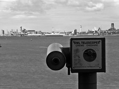 Owl Telescope (llocin) Tags: eastham blackandwhite monochrome liverpool mersey city cityscape