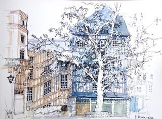 Rouen Place. St. Barthelemy