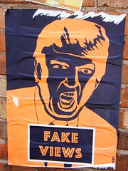Manchester street art - Donald Trump - please see album (rossendale2016) Tags: quarter pasted posted northern central stuck black election won unpopular popular iconic powerful successful businessman democrat republican voted house white america states united usa leader world free president photograph photo negative orange views news fake wall poster trump donald art street manchester