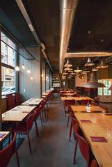 _DSC2099 (fdpdesign) Tags: pizzamaria pizzeria genova viacecchi foce italia italy design nikon d800 d200 furniture shopdesign industrial lampade arredo arredamento legno ferro abete tavoli sedie locali