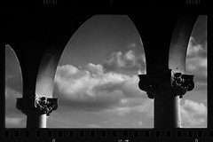 Black and White Columns and Arches (Lex Photographic) Tags: black white bw rammstein architecture columns column