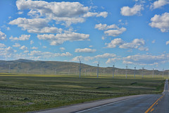 No Cell Service (RootsRunDeep) Tags: highway asphalt turbine wind rural landscape wyoming