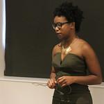 Student Jordyn Kee presenting her capstone.