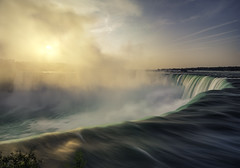 son rise (Todd Murrison (Whitby 61)) Tags: august2017 getaway niagarafalls ontario toddmurrison birthday 19 sonrise theygrowupsoquickly tourists summer2017 elbowingoffselfiesticks happybirthday 3shotstitchedpano lee2stopfilter canada goldenhour