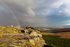 Higger Tor Rainbow (Twiggy's Photography) Tags: rainbow derbyshire alantwigg canon 6d rain peak district heather bloom 1635mm