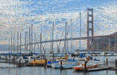 satterlee breakwater mosaic (pbo31) Tags: bayarea sanfrancisco california nikon d810 color august summer 2017 boury pbo31 mosaic collage goldengatebridge 101 marina sail fortbaker marincounty northbay blue bridge boat bay