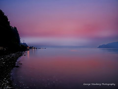 Smoky Twilight (George Stenberg Photography) Tags: washingtonstate pacificnorthwest hoodcanal sunset twilight water seashore unionwa