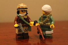 Korea Figbarf (pvt. eugene krabs) Tags: korea military war lego moc figbarf cb brickarms us tanker injured