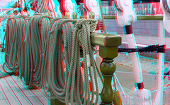 on board The BAP Union Peru in Rotterdam 3D (wim hoppenbrouwers) Tags: the bap union peru rotterdam 3d anaglyph stereo redcyan serie unión sailing vessel bapunión sailingvessel ship boot