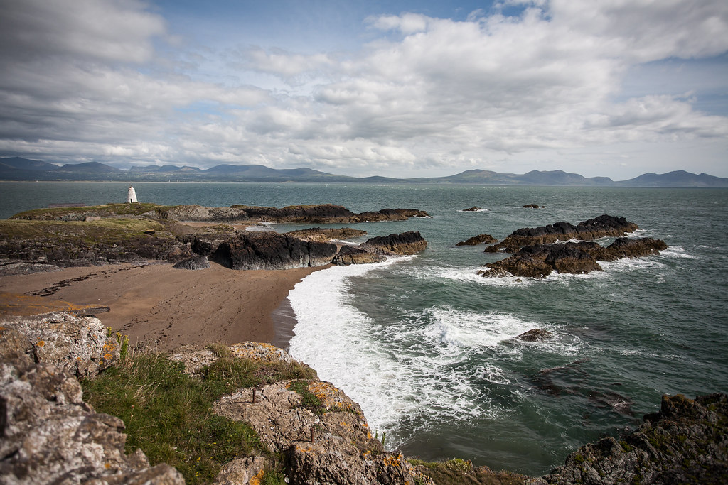 Snowdonia Mountain view from Llanddwyn