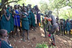 Winners select a price (martien van asseldonk) Tags: ethiopia martienvanasseldonk donga surma koka stickfighting
