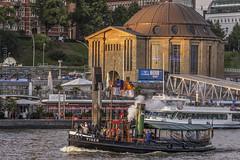 Hamburg_ Hafen-DampfschlepperTiger (milanpaul) Tags: 2017 abend alt canoneos6d dampfschiff deutschland germany hamburg hamburgerhafen herbst historisch landungsbrücken museumshafenövelgönne norddeutschland oldtimer schiff hafen hamburger stpauli