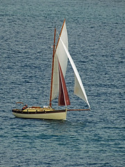 One Brown Sail (Cornishcarolin. Thank you for over 2 Million Views) Tags: cornwall falmouth yachts boats water falestuary