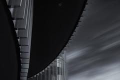 Palacio Europa (Sergio Nevado) Tags: edificio building palacio europa vitoria gasteiz alava araba pais vasco euskadi basque country paisaje urbano cityscape larga exposicion long exposure blanco negro black white cielo sky nubes clouds