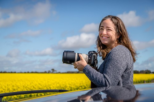 Marcia Taking Photos Of Canola-4