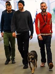 step aside. (donvucl) Tags: london southbank colour men dog figures olympusem1 street donvucl geezers urban