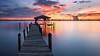 Last Wednesday. (Jill Bazeley) Tags: merritt island florida usa space coast brevard county intracoastal waterway indian river lagoon pier piling bollard dock boat house boathouse sony a6300 1018mm smooth reflection app