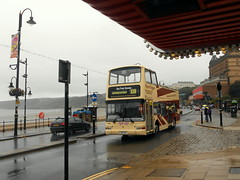 Summer in Scarborough (miledorcha) Tags: east yorkshire motor services hull scarborough district 881 a10eyd x579egk volvo b7tl plaxton president open top partial conversion sightseeing sea front service 109 promenade holidays travel daytripper summer north coast tourist london central pvl179 seaside bus buses foreshore road