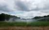 Irrigation 07-01-17 (MelenaMe) Tags: irrigation water sprinkler sprinklers farm farmland sky cloud cluds trees garden plants