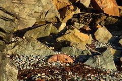côté roches (8pl) Tags: plage galets roche roches rochers rouille déchetrouillé côte sark sercq matin rusty sectiondedisquerouillé
